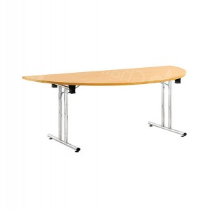 Modular D-End Meeting Table