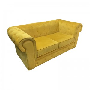 Mustard Fabric Chesterfield Sofa