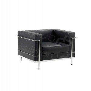 One Seater Black Corbusier Sofa