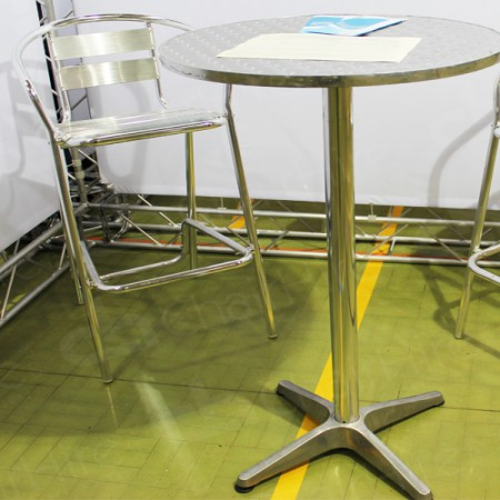 Main Image of Poseur Table and Aluminium Stools