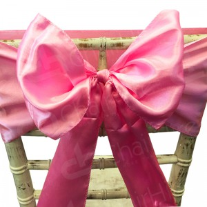 Satin Chair Bow - Baby Pink