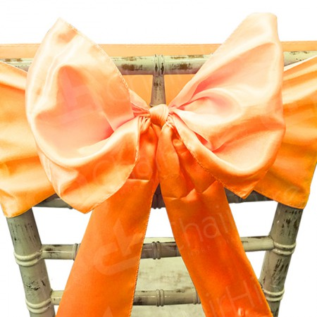 Main Image of Burnt Orange Satin Chair Bow