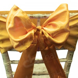 Satin Chair Bow - Dark Gold