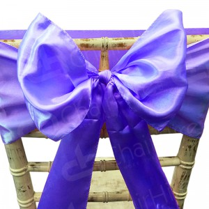 Satin Chair Bow - Purple