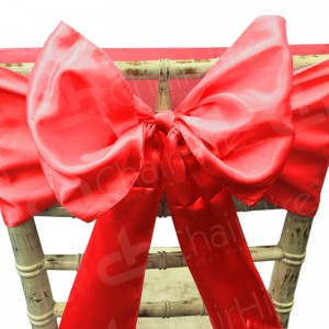 Satin Chair Bow - Red