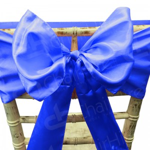 Satin Chair Bow - Royal Blue