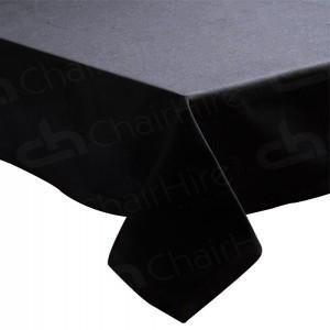 70 x 70 Inch Black Bistro Tablecloth