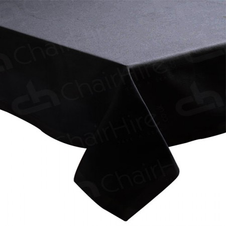 Main Image of 1220mm Rectangular Table Cloth - Black