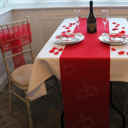 Main Image of 1220mm Rectangular Table Cloth - White