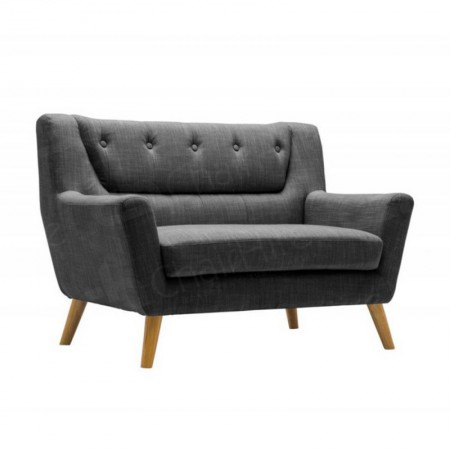 Main Image of Two Seater Grey Kent Fabric Sofa