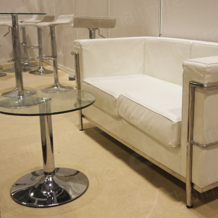 Main Image of 2 Seater Corbusier Sofa - White