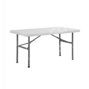 White 4ft Rectangular Plastic Table