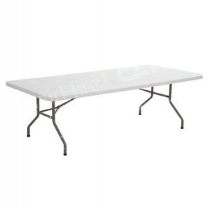 White 6ft Rectangular Plastic Table