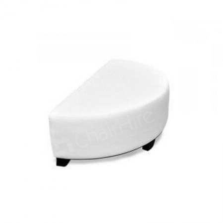Main Image of Bianco Half-Round Pouffe