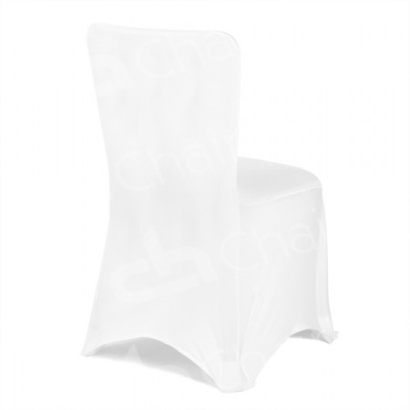 Main Image of Fitted Lycra Chair Cover - White