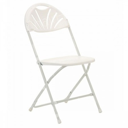 Main Image of White Folding Fan Back Chair