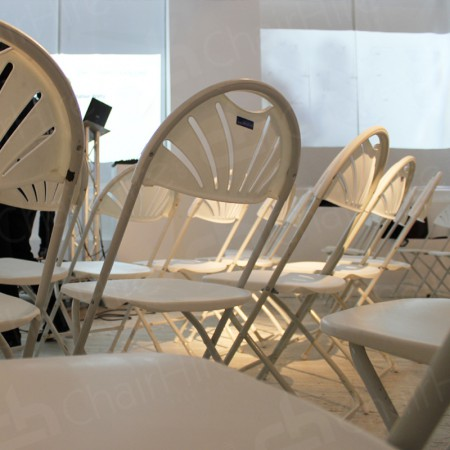 Additional Image #21 of White Folding Fan Back Chair