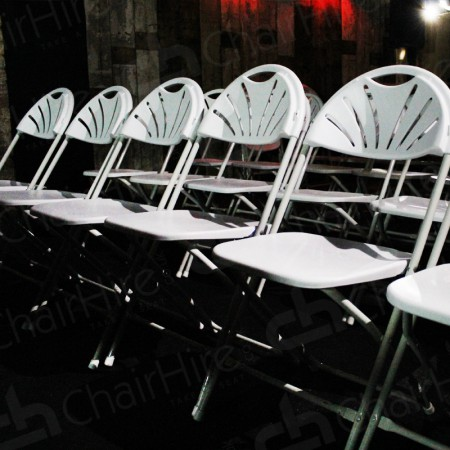 Additional Image #12 of White Folding Fan Back Chair