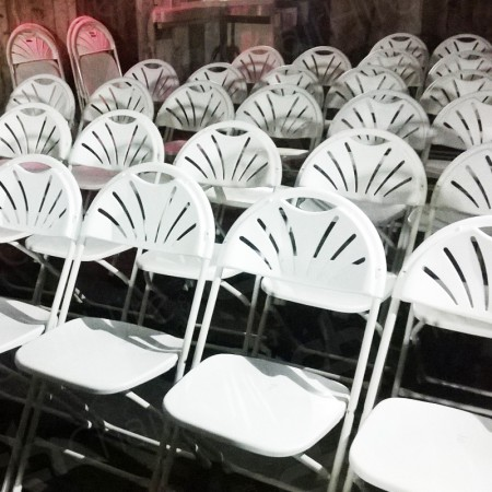 Additional Image #10 of White Folding Fan Back Chair