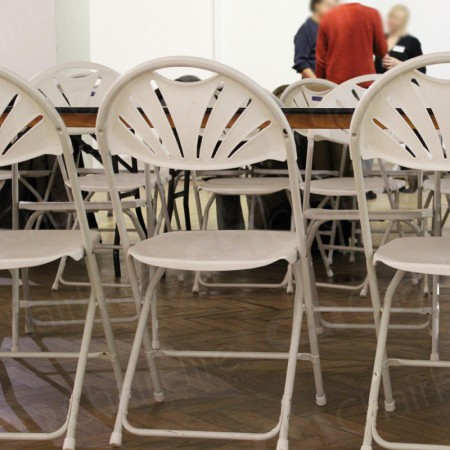 Additional Image #16 of White Folding Fan Back Chair