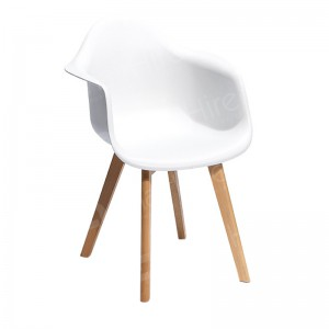 White Keeve Chair with Armrests