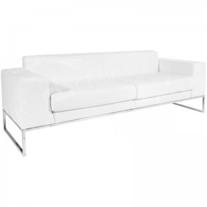White Lay Sofa Large
