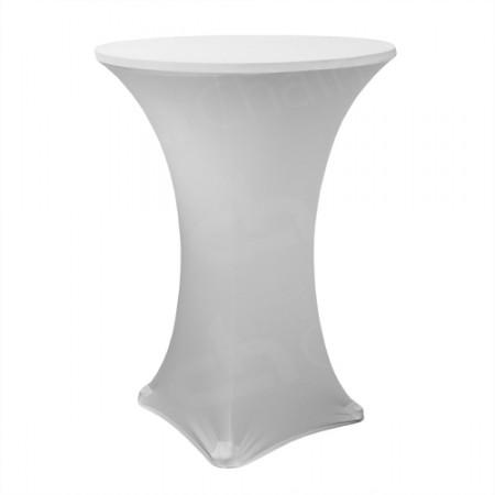 Main Image of Fitted Poseur Table Cover - White