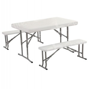 White Plastic Picnic Table