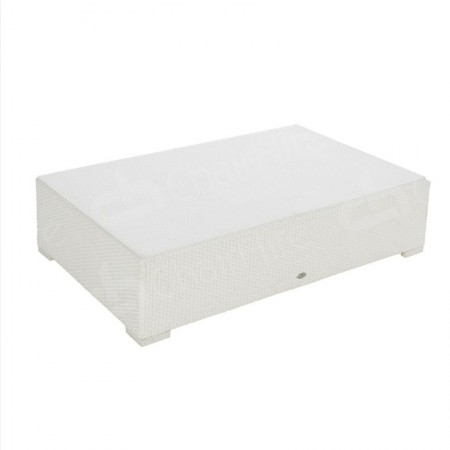 Main Image of Rattan Coffee Table Large White