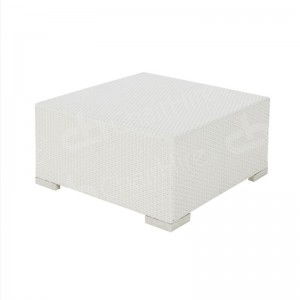 White Rattan Coffee Table Small