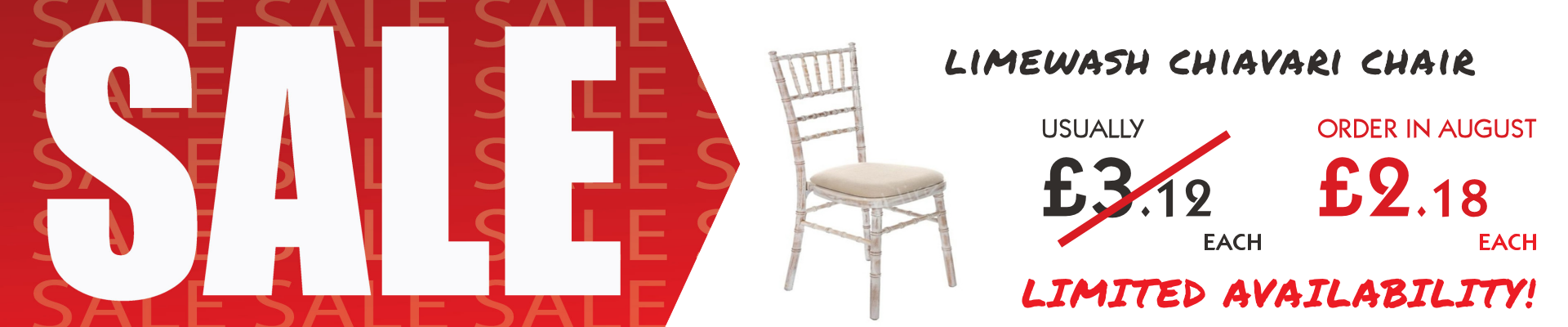 Limewash Chiavari Chair Sale
