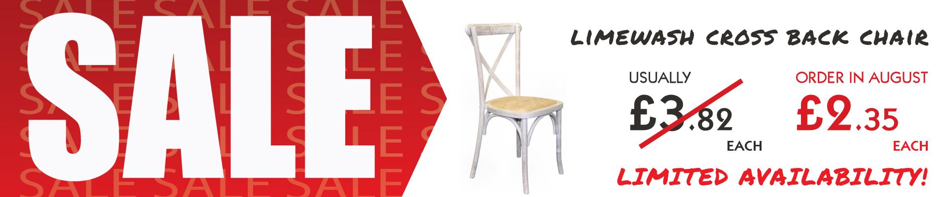 Limewash Cross Back Chair Sale