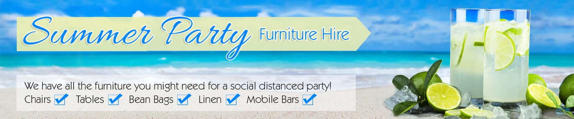 Hire Summer Party Furniture