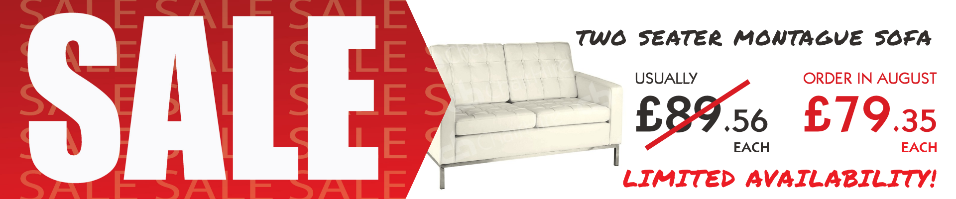 Two Seater Cream Montague Sofa Sale