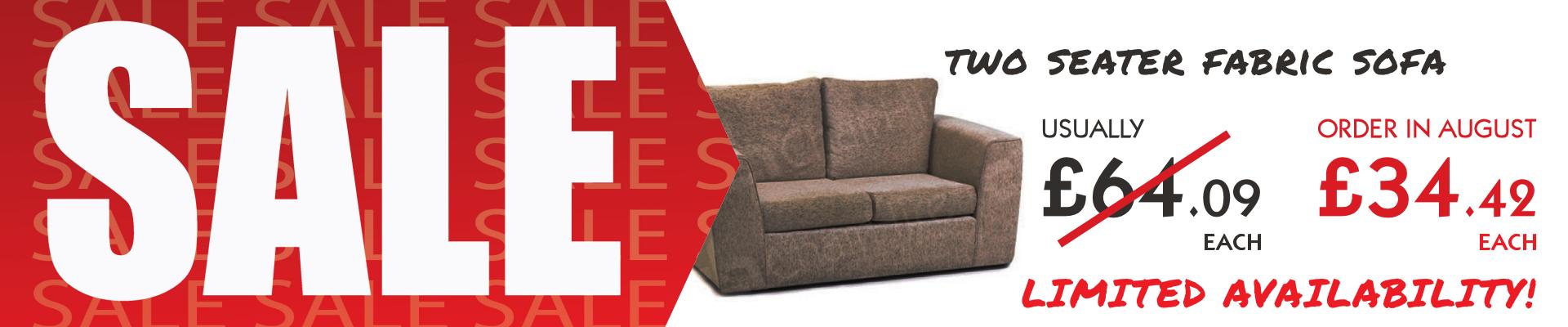 Two Seater Fabric Sofa Sale